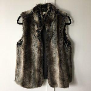 Cashmere fur vest